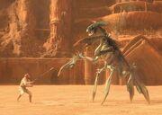 Acklay vs. Obi Wan