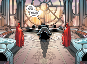 Vader e Palpatine no Palácio Imperial