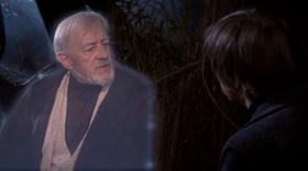 Kenobi e Luke conversando