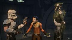 Ezra reasoning with Rex and Kalani