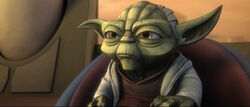 Yoda Speaking To The Council