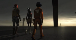 Ahsoka Kanan and Ezra arrive on Malachor