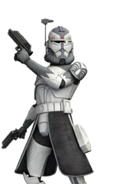 Star Wars Comandante Wolffe durante as Guerras Clônicas