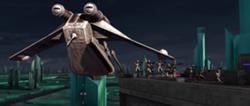 Hawk gunship evac