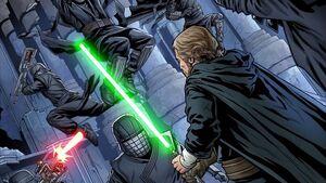Luke enfrenta Cavaleiros de Ren