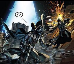 Vader ataca Sidious