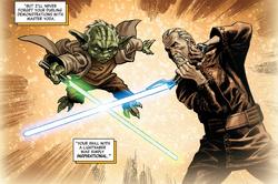 Yoda Dooku dueling demo