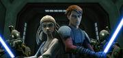 Skywalker & Gallia auf Brücke