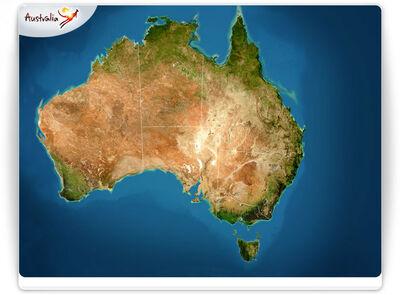 Australia Map TourismBoard 07142008