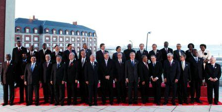 Head of States at the Americas Summit in Mar del Plata Argentina 2005