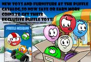 Puffle balloon ad