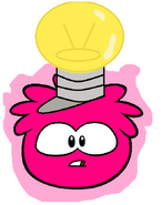 Magenta Puffle Lightbulb Hat