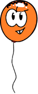 Orange Puffle Balloon