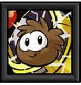 Brown Puffle in a Frame