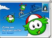 Greenpufflepostcard