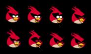 Super red bird sprites