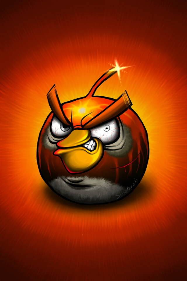 Angry Birds Boomerang Bird After Battle Iphone Background By Scooterekjpeg