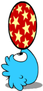 Blue Puffle playing