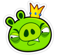 Work 6871868 2 sticker,375x360 angry-birds-shirt-king-pig-green-v1
