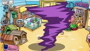 The Attack Of The Purple Puffles Caught Making Tornado In Petshop