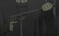 Silver wheel gun