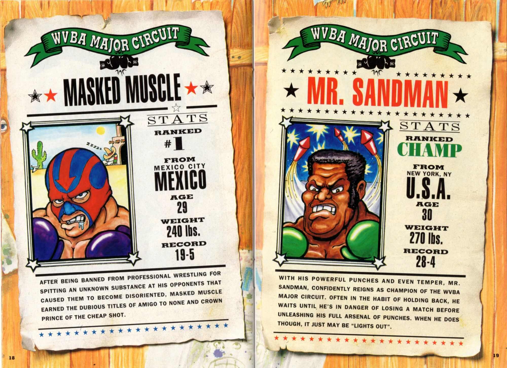 Masked muscle punch out wiki fandom powered by wikia for What is a punch out list