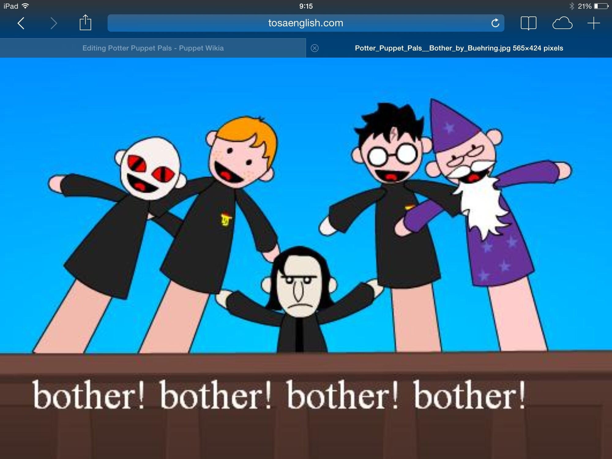 potter puppet pals puppet wikia fandom powered by wikia
