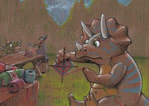 Triceratops Knitting