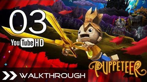 Puppeteer Walkthrough - Gameplay Part 3 (Stolen Away - Act 1 Curtain 3 - Tiger Boss Battle) HD 1080p PS3 No Commentary