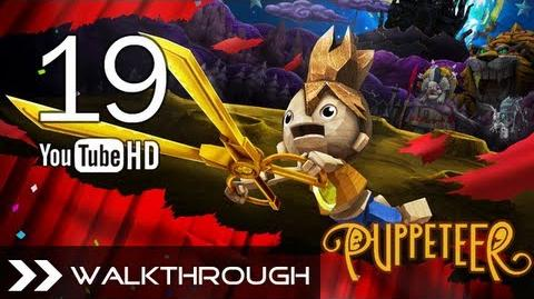 Puppeteer Walkthrough - Gameplay Part 19 (The Tyrant King - Act 7 Curtain 1 - G. Monkey Boss) HD 1080p PS3 No Commentary