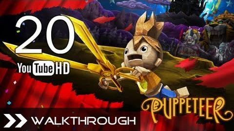 Puppeteer Walkthrough - Gameplay Part 20 (The Tyrant King - Act 7 Curtain 2 - Vile Vines Boss) HD 1080p PS3 No Commentary