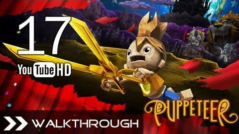 Puppeteer Walkthrough - Gameplay Part 17 (Time's a-Ticking - Act 6 Curtain 2 - G. Rooter Boss) HD 1080p PS3 No Commentary