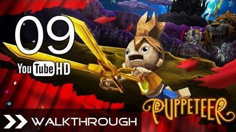 Puppeteer Walkthrough - Gameplay Part 9 (All That Glitters - Act 3 Curtain 3 - Robocrab Boss) HD 1080p PS3 No Commentary