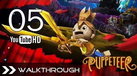 Puppeteer Walkthrough - Gameplay Part 5 (Who to Trust - Act 2 Curtain 2 - Rat Boss Battle) HD 1080p PS3 No Commentary