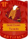 Gold down tuxedo