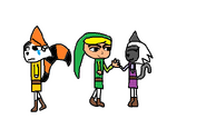 Toon Lola is friend with Toon Link and Toon Light i unhappy