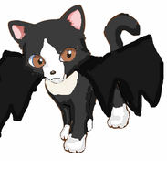 Eve in her Halloween bat costume
