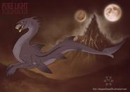 Goblin shark darker by dragonoficeandfire-d8oj05h