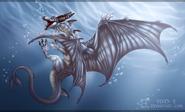Frostbite underwater
