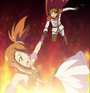 Shou catch aira as she falls