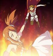Shou catch aira as she falls