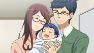 Shin with his parents