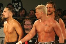 Cody Rhodes Marty Scurll & Hangman Page crop