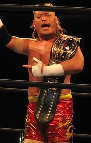 Hiroyoshi Tenzan NWA World Heavyweight Champion