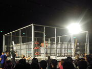 Steel cage deathmatch with 200 fluorescent light tubes - Ryuji Ito vs. Yuko Miyamoto - Big Japan Pro Wrestling - May 4, 2010