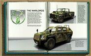 Pursuit Force car manual - Warlord cars
