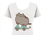 Scooter Pusheen T-Shirt (womens)