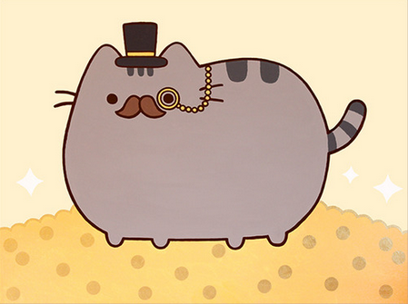 Attractive Fancy Pusheen Is A Series Of Pictures/comics With Pusheen Wearing Fancy  Items, Such As Monocles, And Top Hats.