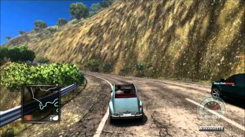 Test Drive Unlimited 2, Citroën 2CV up-hill drive *1080P*