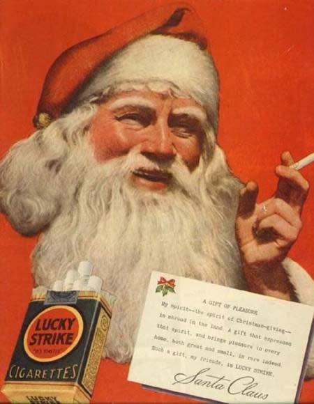Santa-smoking